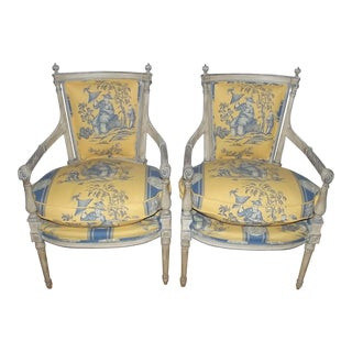18th Century French Directoire Armchairs - a Pair For Sale