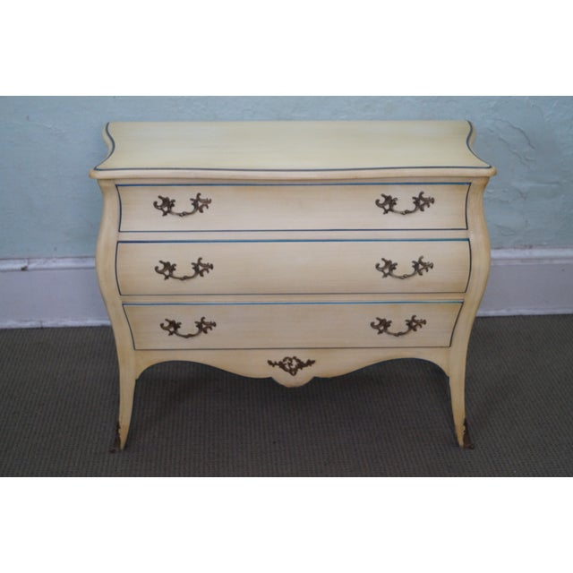Vintage Louis XV Vintage Painted Bombe Chest - Image 2 of 10