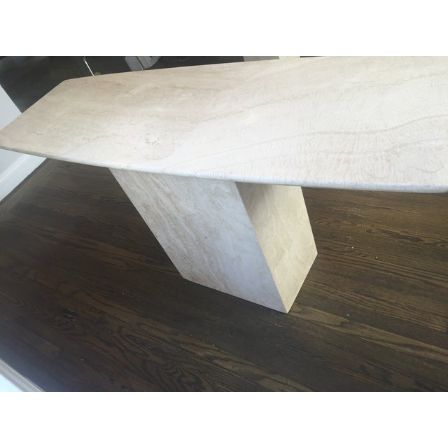 Italian Travertine Marble Console Table - Image 4 of 8