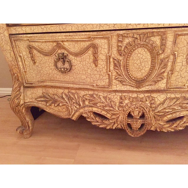 French Provincial Style Chest With Marble Top - Image 6 of 7