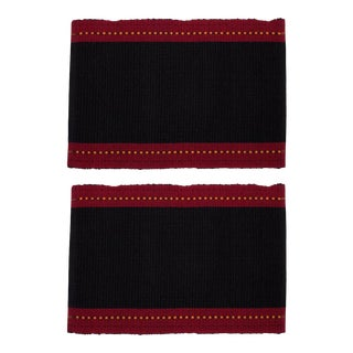 Aadil Placemats Black & Red - A Pair For Sale