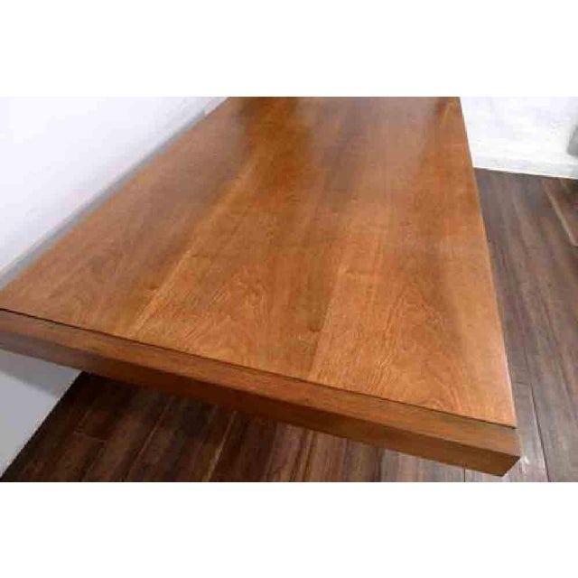1970s Hollywood Regency Milo Baughman for Founders Walnut Extension Dining Table For Sale - Image 9 of 12