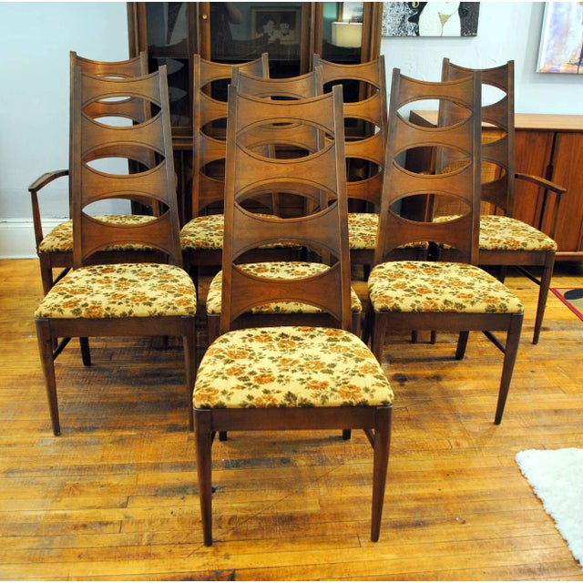 Kent Coffey Mid-Century Perspecta Dining Chairs - Set of 8 - Image 2 of 11