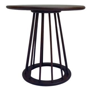 Arthur Umanoff Walnut Spindle Side Table For Sale