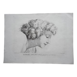 Large Portrait 18th C. Engraving After Raphael