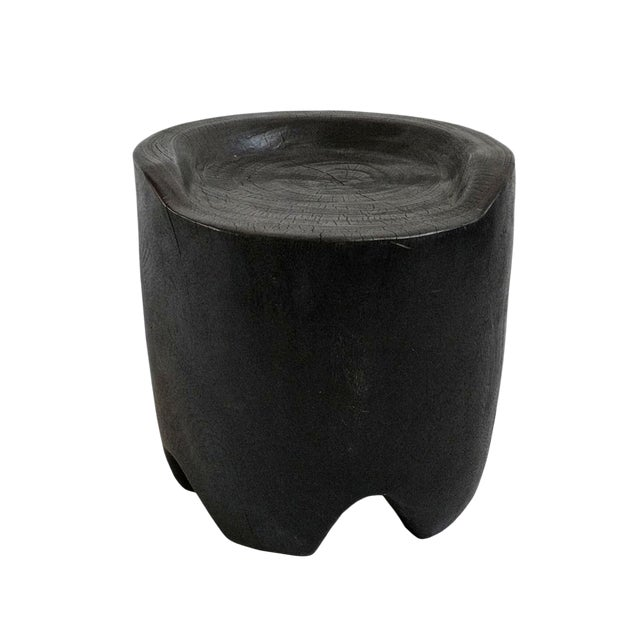 Blackened Stump Seat Stool For Sale