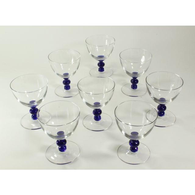 Vintage Art Deco Crystal Aperitif Stemware - Set/8 - Image 3 of 6