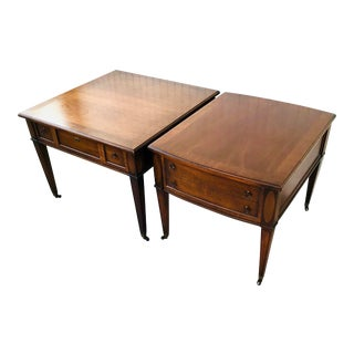 Vintage Sheraton Style Living Room Tables - a Pair For Sale
