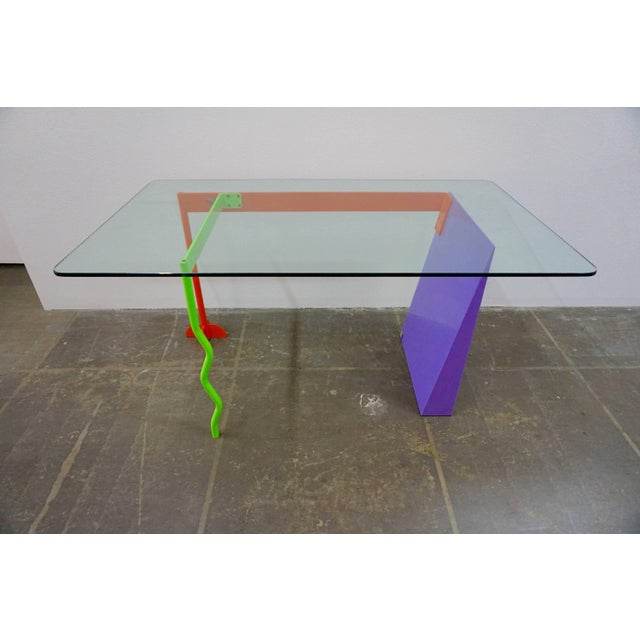 """Peter Shire """"Memphis Milano"""" Desk, 1982 For Sale In Palm Springs - Image 6 of 6"""