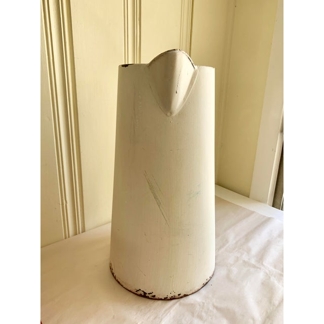 Rustic Farmhouse Large Metal Pitcher Vessel For Sale In Los Angeles - Image 6 of 11