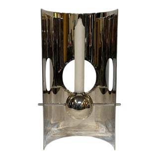 Early 20th Century Christofle Lineo Sabattini Candle Holder For Sale