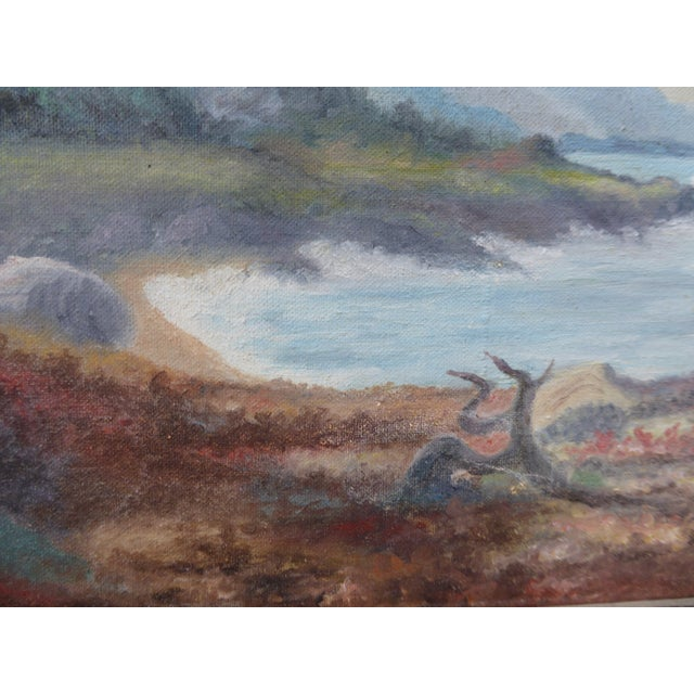"""Canvas """"Montaña De Oro State Park"""" Oil Paintings - A Pair For Sale - Image 7 of 11"""