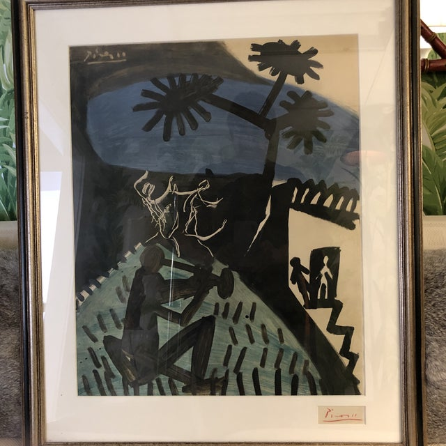 Wood Signed Pablo Picasso Lithograph For Sale - Image 7 of 7