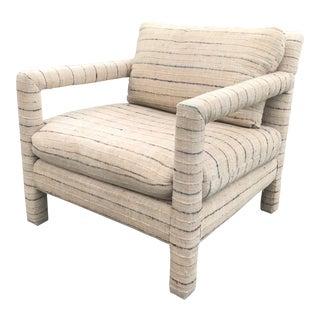 1980s Vintage Milo Baughman Style Parsons Armchair For Sale