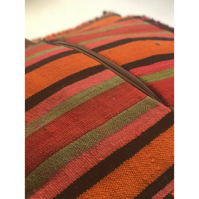 Vintage Moroccan Wool Pouf - Image 9 of 10