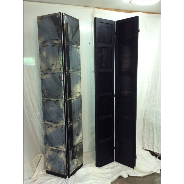 Mid-Century Modern Mirrored Four-Panel Screen - Image 11 of 11