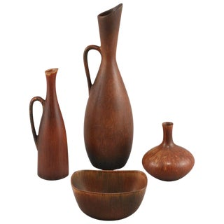 Set of Stoneware by Carl-Harry Stalhane For Sale