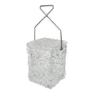 "Wilardy ""Block of Ice"" Lucite Ice Bucket"