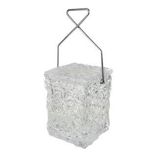 "Wilardy ""Block of Ice"" Lucite Ice Bucket"