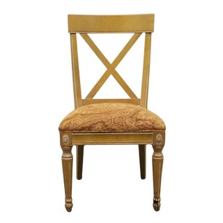 Late 20th Century Vintage Ethan Allen Regents Park Collection Dining Side Chair For Sale
