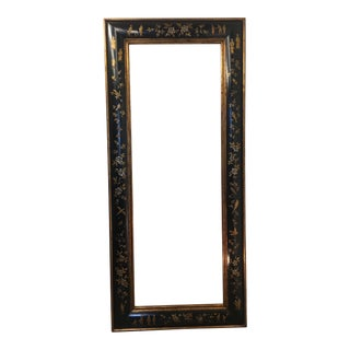 Chinoiserie Ebony Frame With Springtime Flowers For Sale