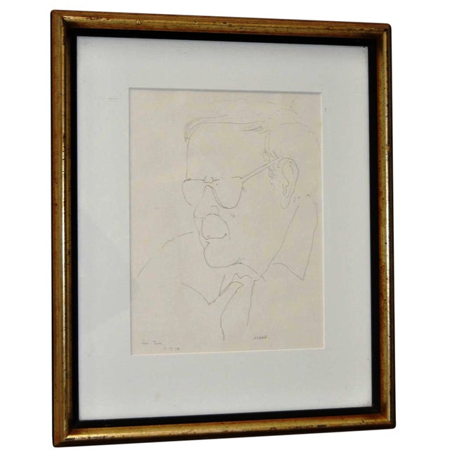Pen & Ink Portrait by Ruth Asawa, 1978 - Image 1 of 6