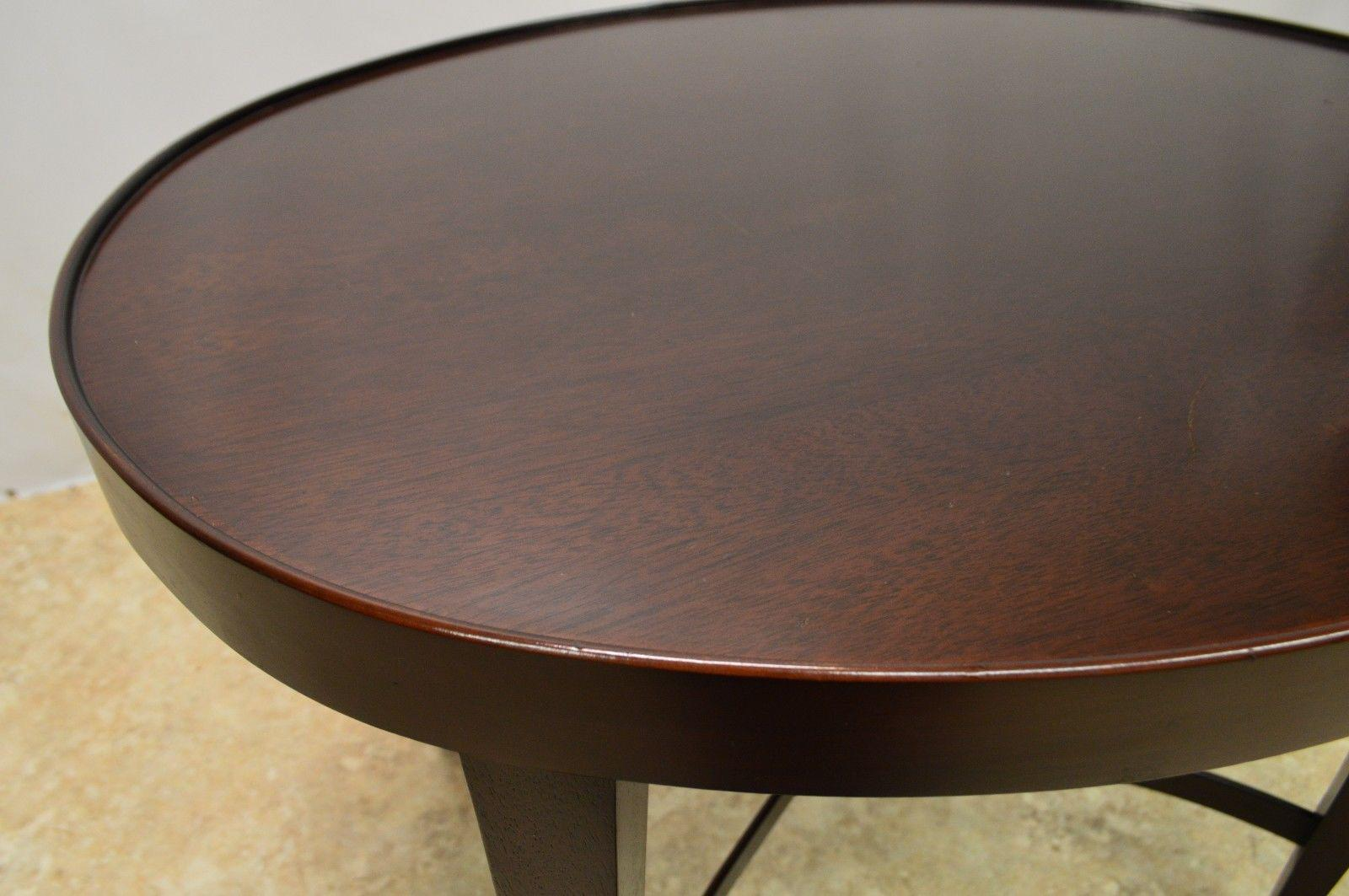 Baker by Barbara Barry Mahogany Oval Coffee Table Model 3469