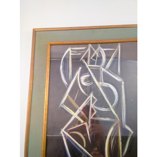 Cubism Cubist Nude Female Painting on Paper For Sale - Image 3 of 7