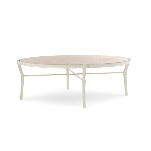 Mediterranean Century Furniture Andalusia Outdoor Round Cocktail Table For Sale - Image 3 of 3