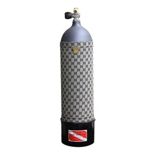 Vintage Gucci Embroidery Decorative Oxygen Tank For Sale