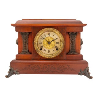 Seth Thomas Pasargad American Cherry Mantel Clock For Sale