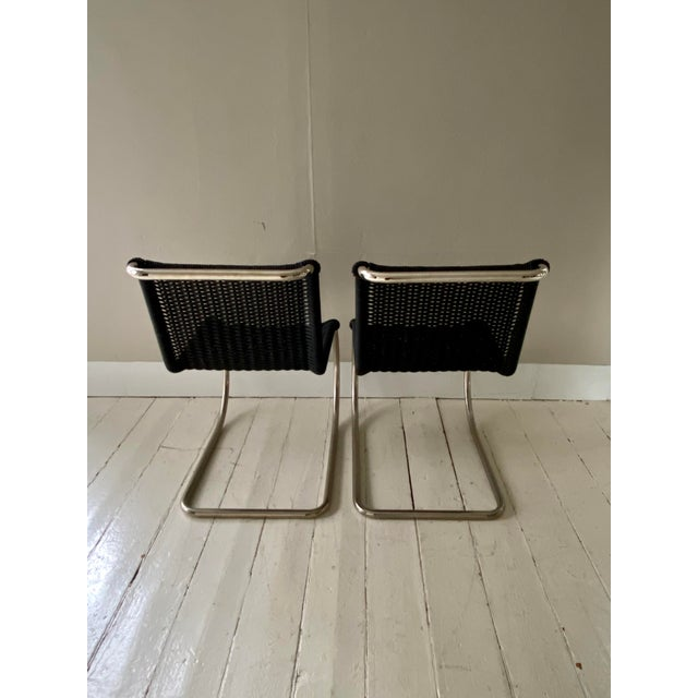 Bauhaus Mies Van Der Rohe Side Chairs- a Pair For Sale - Image 3 of 11