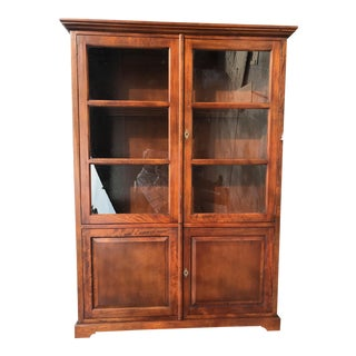 Crate & Barrel Glass Doors Cabinet