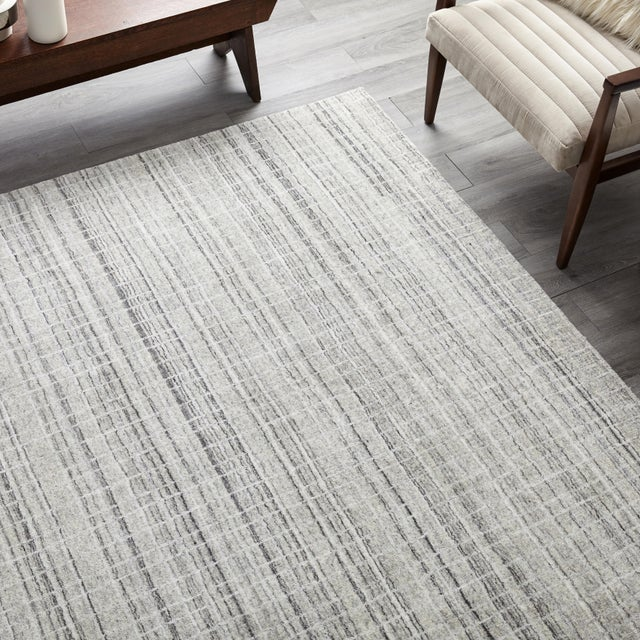 Textile Finley, Contemporary Modern Loom Knotted Area Rug, Pewter, 12 X 15 For Sale - Image 7 of 9