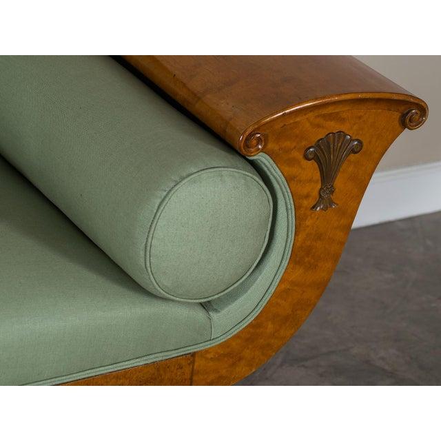 Linen 1920s Swedish Grace Biedermeier Satinwood Sofa For Sale - Image 7 of 11