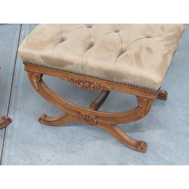 Regency Regency Style X Benches - a Pair For Sale - Image 3 of 11