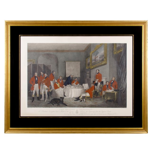"1839 ""The Melton Breakfast"" Fox Hunt Engraving Print For Sale In Savannah - Image 6 of 6"