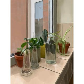 """Plant Lady"" Contemporary Interior Scene Print For Sale"