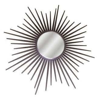 Silver Metal Starburst Mirror For Sale