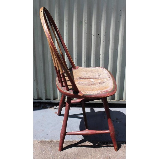 Early 19Thc Original Paint Decorated Windsor Side Chair For Sale In Los Angeles - Image 6 of 10