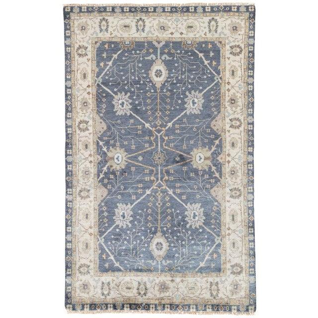 Jaipur Living Princeton Hand-Knotted Floral Dark Blue & Beige Area Rug - 2′ × 3′ For Sale In Atlanta - Image 6 of 6