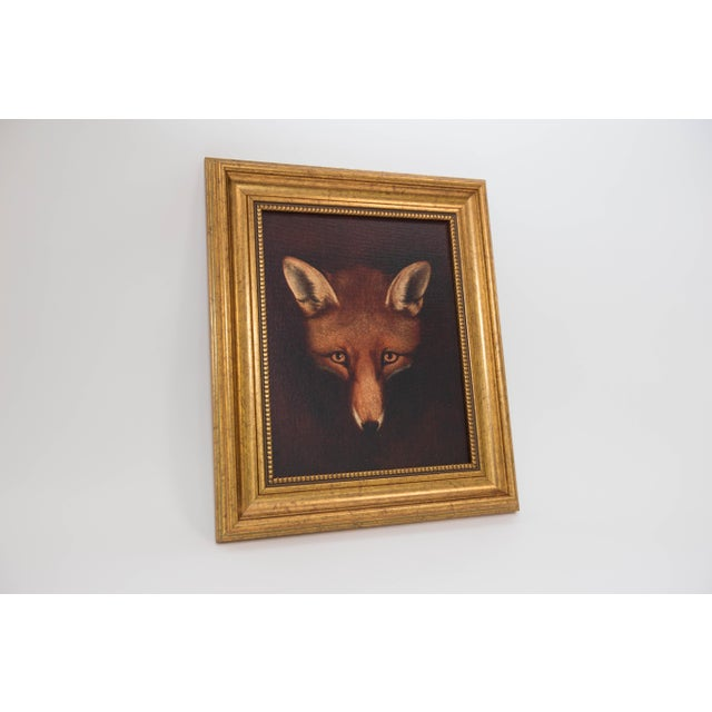 Framed Fox Painting - Image 2 of 3