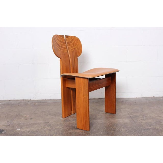 African Four Africa Chairs by Afra & Tobia Scarpa For Sale - Image 3 of 10