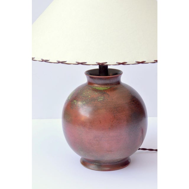 Fritz Haussmann Ceramic Lamp, Switzerland, 1930s For Sale - Image 9 of 10