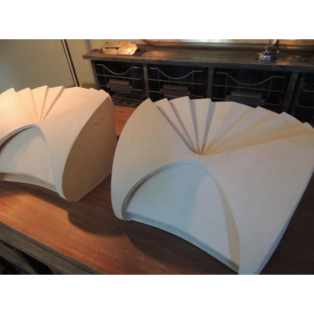 Boyd Lighting Art Deco Fan Shaped Wall Light Sconces - a Pair For Sale - Image 5 of 11