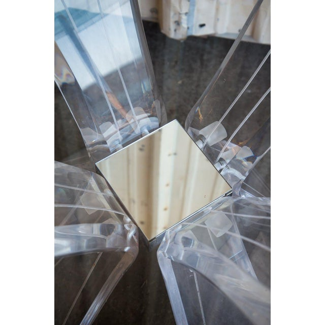 1960s Mid-Century Modern Lucite and Glass Table For Sale - Image 5 of 7
