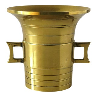 Brass Japanese Urn-Style Vessel For Sale