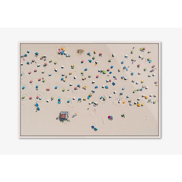 Edition Aerial Views Bernhard Lang Image: EFI_Beachchairs_001 Size A: 59 x 39 inches, Captured in 2018 of the EAST FRISIAN...
