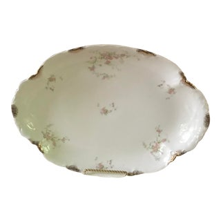 Antique 1894 Warwick French Limoges Style China Serving Plate For Sale
