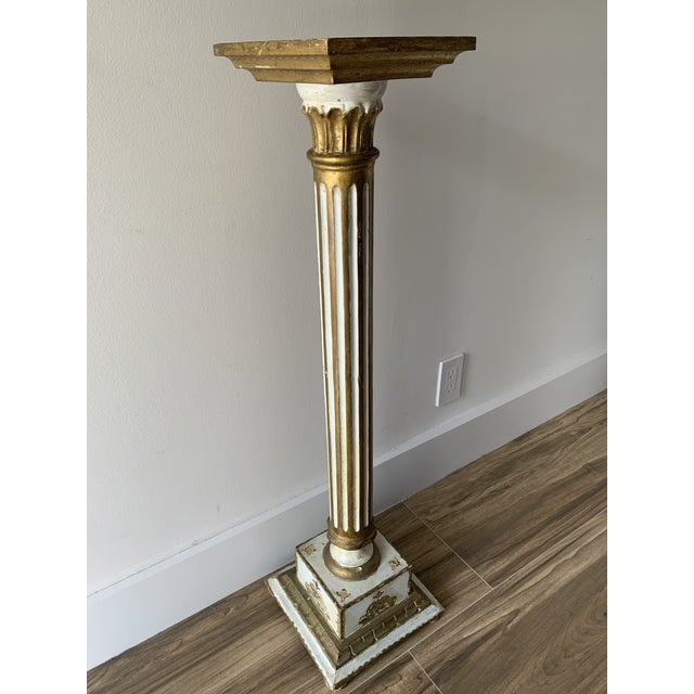 Vintage Louis Style French Classical Display Pedestal For Sale - Image 13 of 13